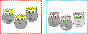 one way to categorize cartoon faces