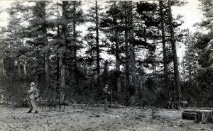men walking in Oregon forest
