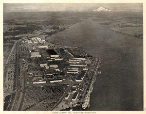 Kaiser shipyards in Vancouver, Oregon