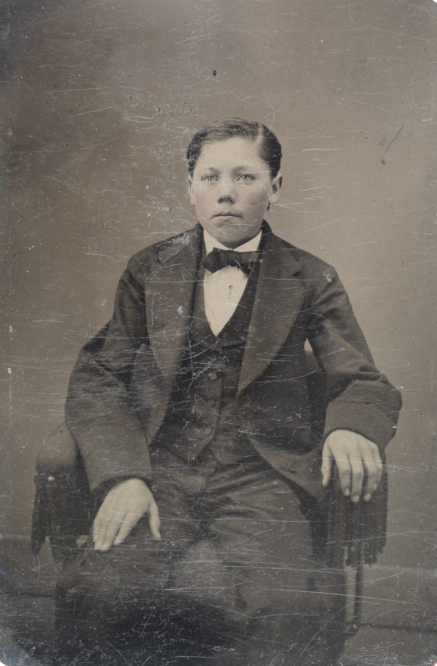 boy in suit, 1856-1900