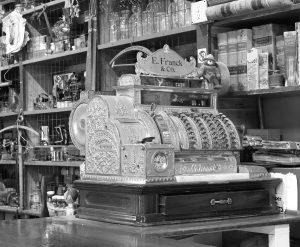 cash register in old general store