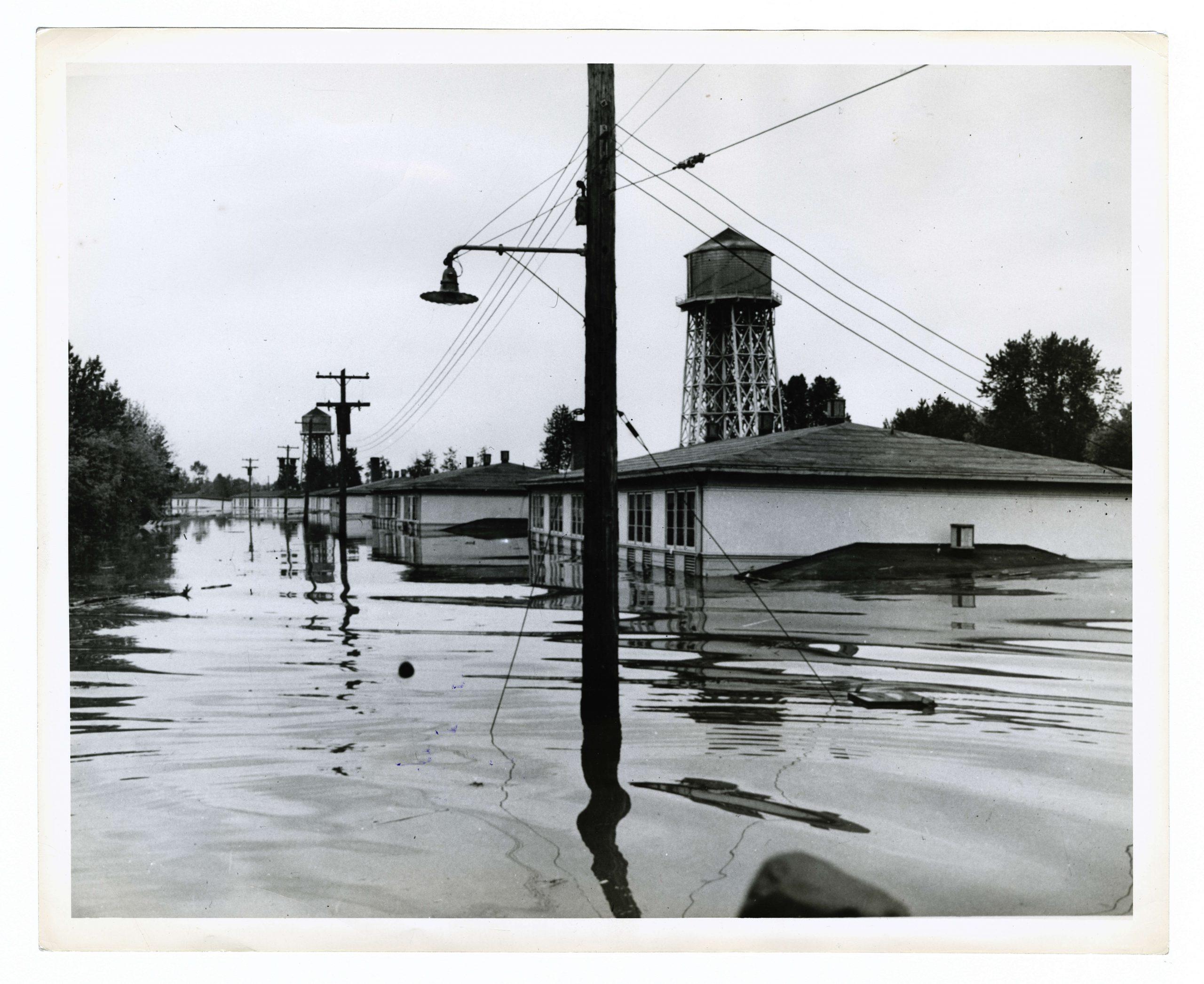 flooded houses in Vanport