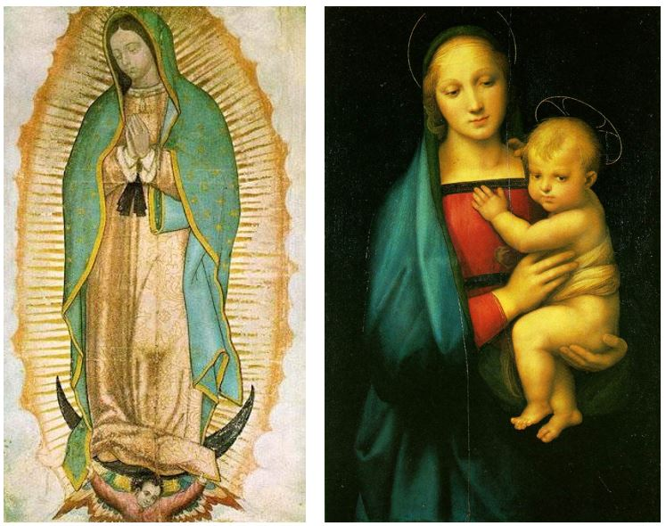 two images of the virgin mary F