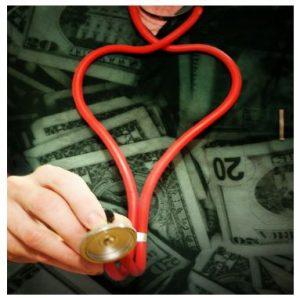 Photo illustration of stethoscope