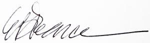 Signature of author