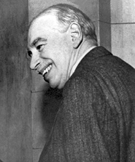 The image is a photograph of John Maynard Keynes.