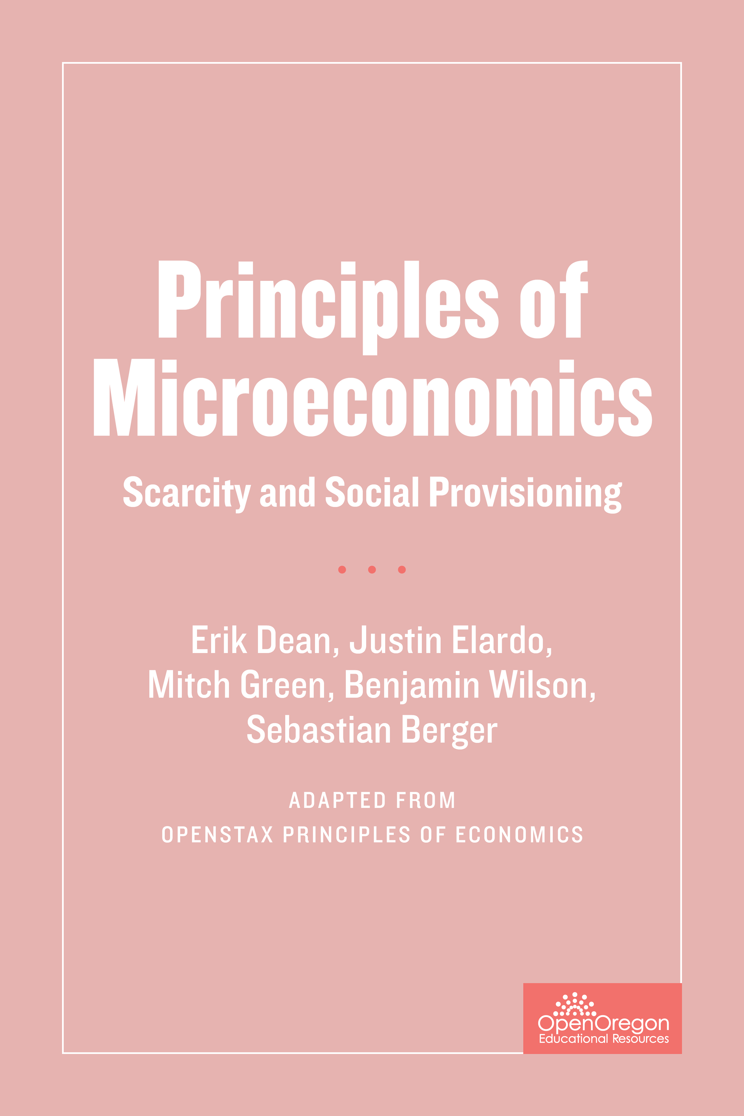 a description of the principles of microeconomics 0 reviews for principles of microeconomics online course 1401 principles of microeconomics is an introductory undergraduate course that course description.