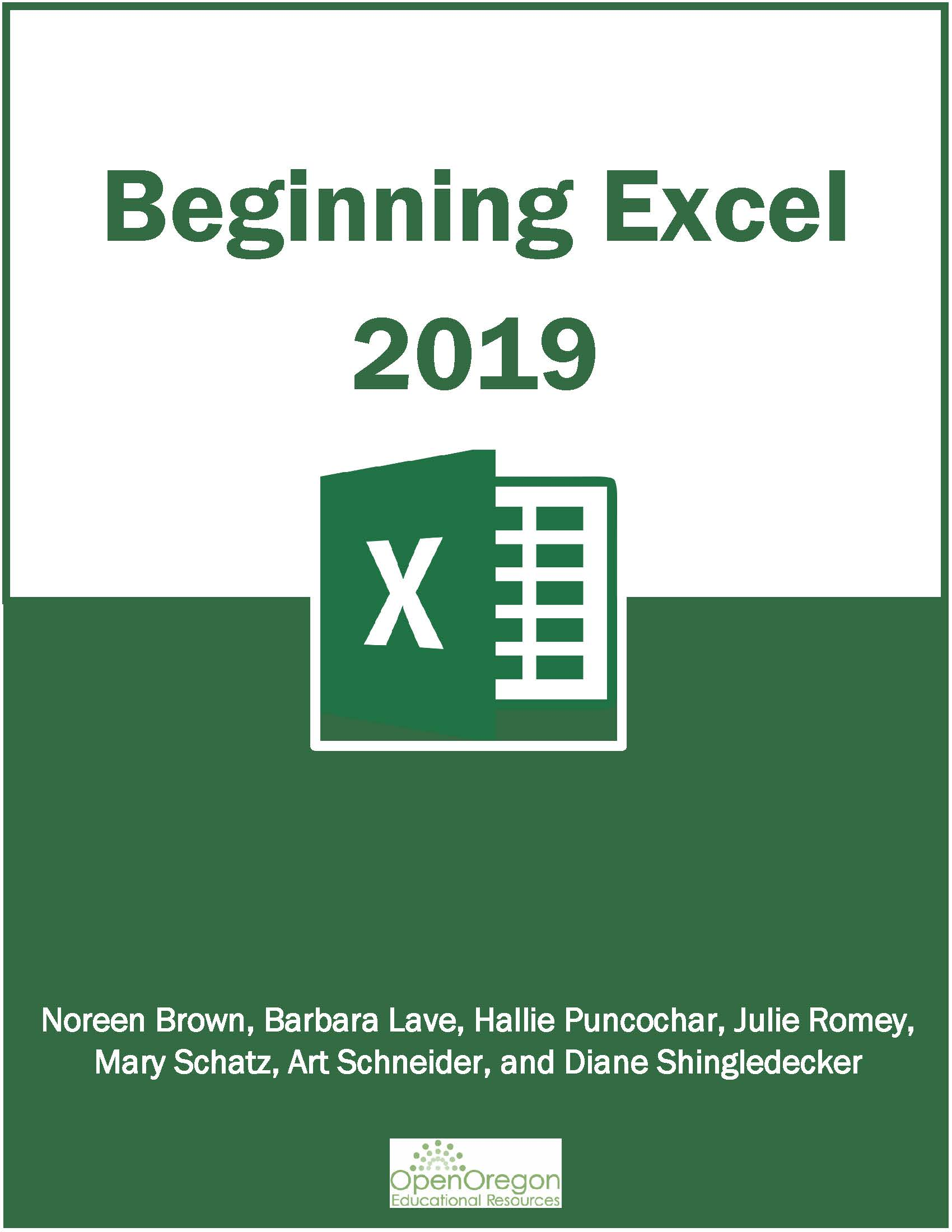 Cover image for Beginning Excel 2019