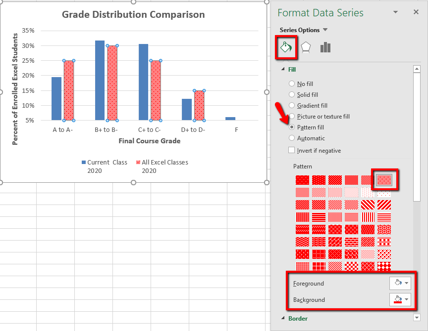 Screenshot of Format Data Series Pane