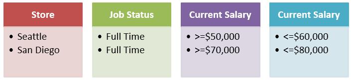 Image of the Advanced Filter Criteria