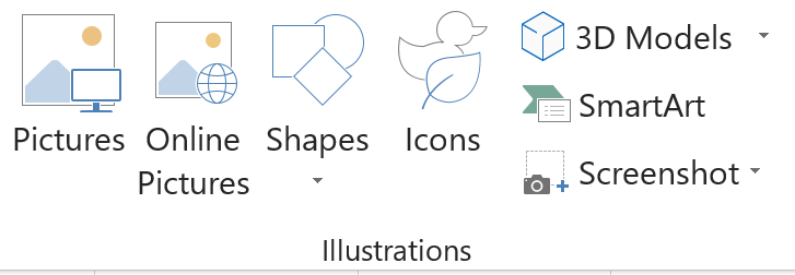 Screenshot of the Illustrations Group