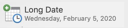 long date format