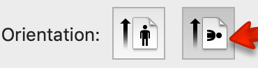 Orientation buttons