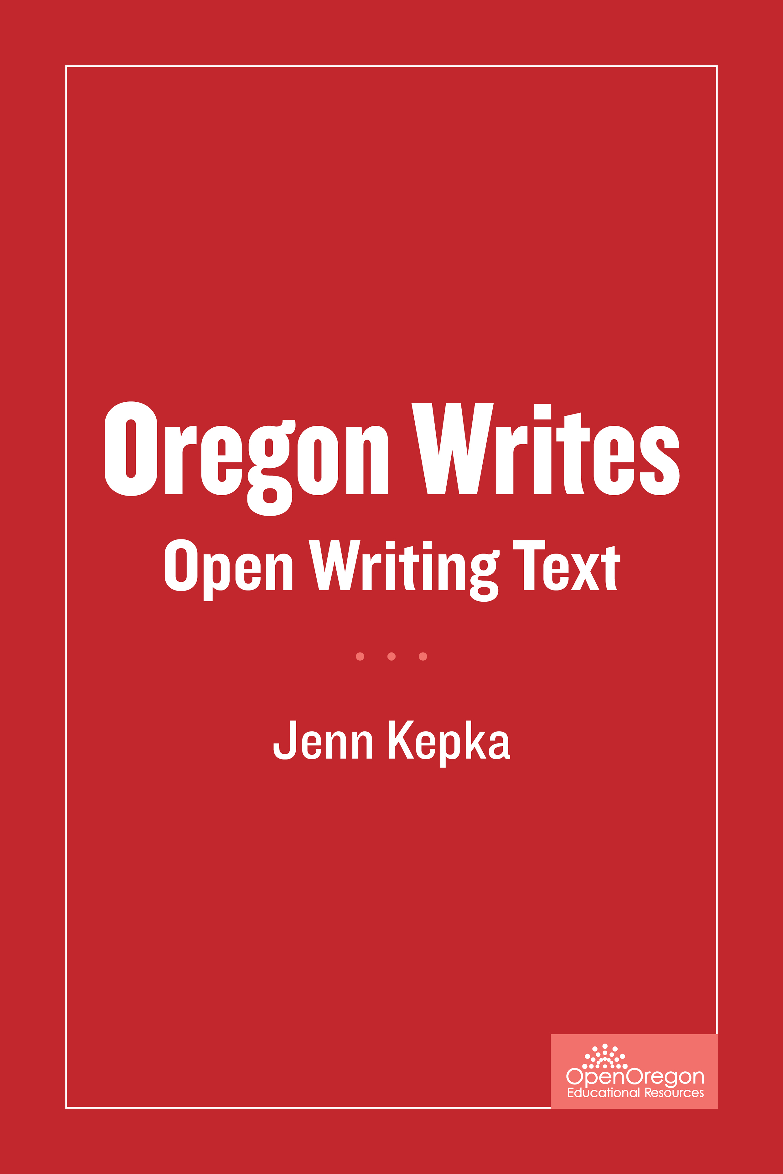 Oregon Writes Open Writing Text Simple Book Production