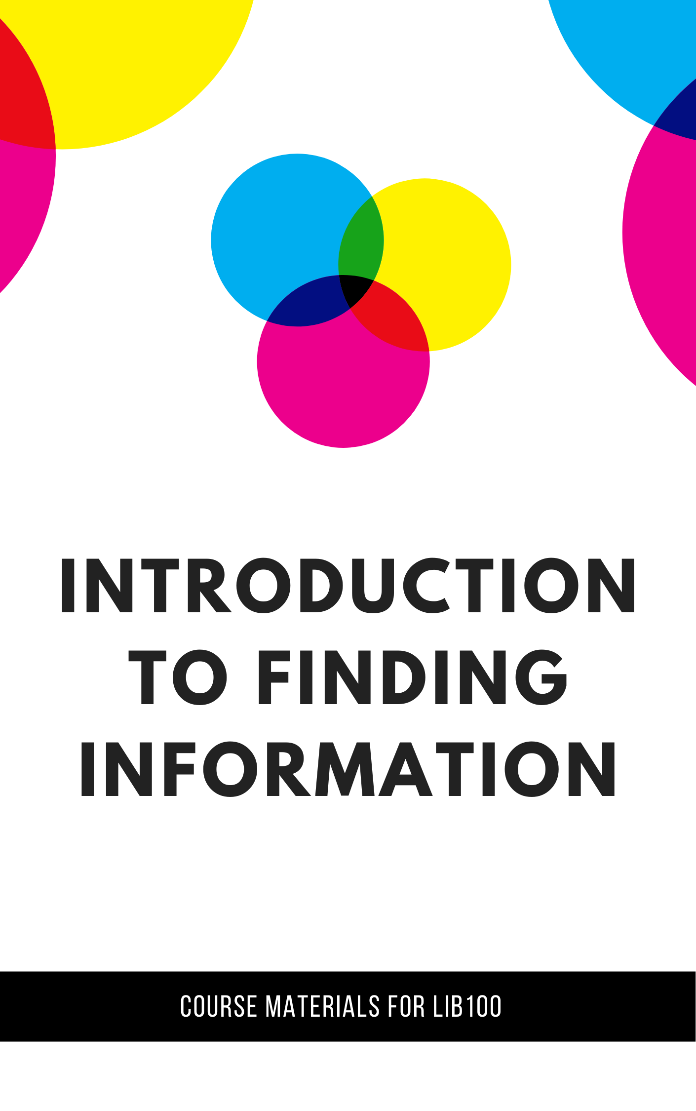 Cover image for Introduction to Finding Information