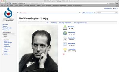 Wikimedia search return page