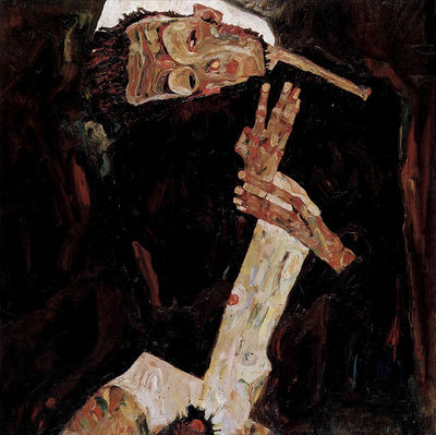 The Poet, 1911, Egon Schiele, oil on canvas.