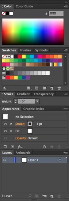 The Adobe Illustrator panel