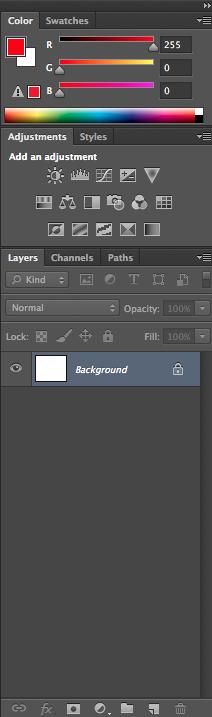 Adobe Photoshop panel