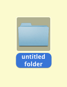 Step 1 create a new folder