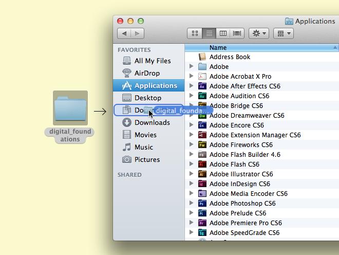 Moving a folder