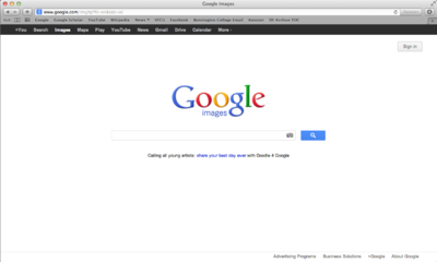 Google Search Engine Interface