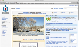 Wikimedia Commons website home page