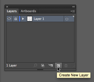 Location of the Create New Layer icon and function