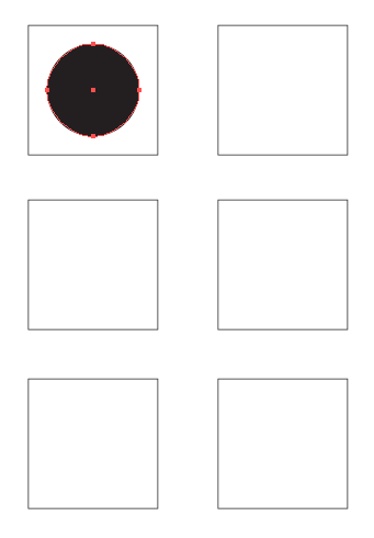 Image of black circle in square 1