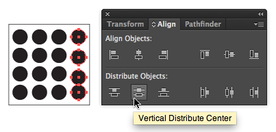 Vertical Distribute Center on the Align panel