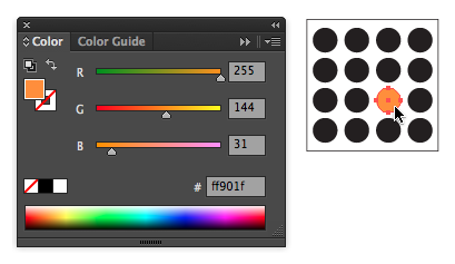 The color panel and example of creating a focal point