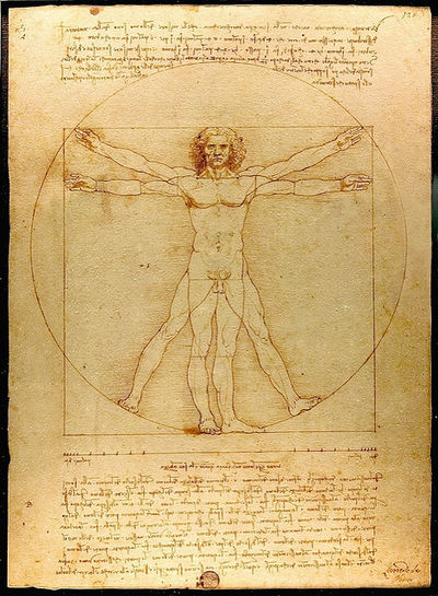Vitruvian Man, Leonardo da Vinci,