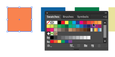 Color and value choices using the swatches panel.