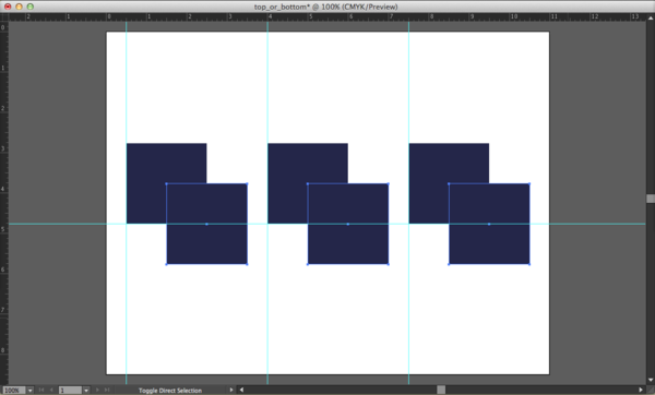 Duplicating and offsetting the squares