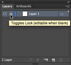 Locking layers using the Toggles Lock on the Layers Panel.