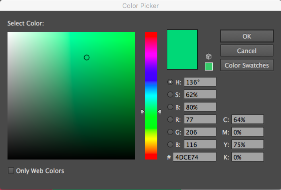 Color Picker and the color slider