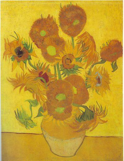 Sunflowers, Vincent Van Gogh, 1888