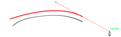 Creating a curve suing the Bezier Handles