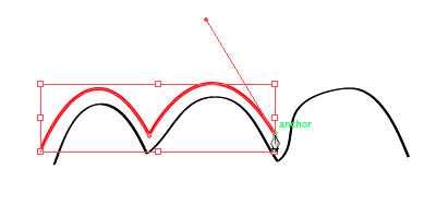 Turning a curve anchor point into an  angle
