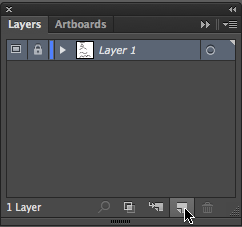 Using the layer panel to create a new layer