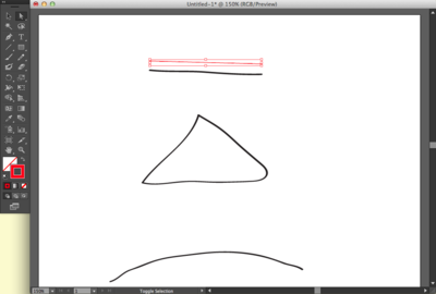 Creating a line with the Pen Tool