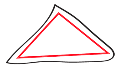 A simple triangle created with the pen tool