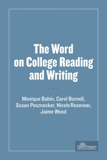 Cover image for The Word on College Reading and Writing