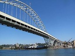 a photo of the Fremont Bridge in Portland, Oregon