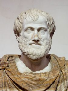 a photo of a bust of Artistotle