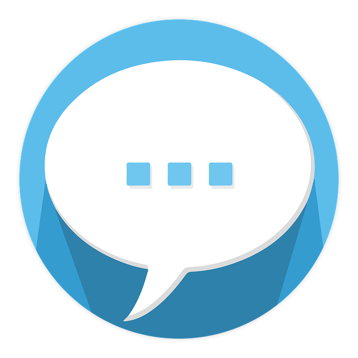 a speech bubble icon