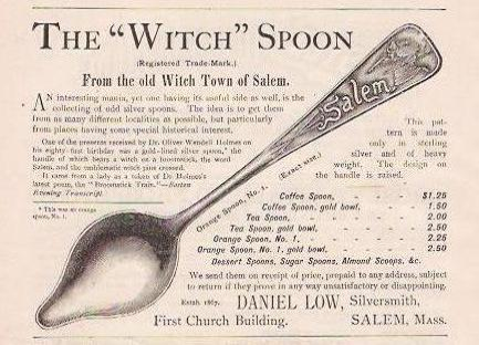 vintage ad for souvenier spoons illustrates concept of orientation