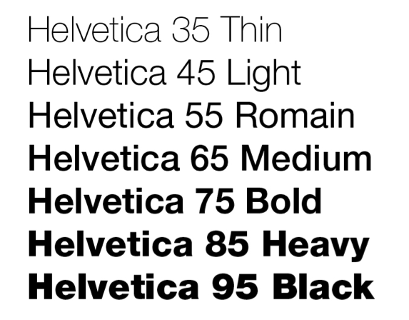 examples of Helvetica font