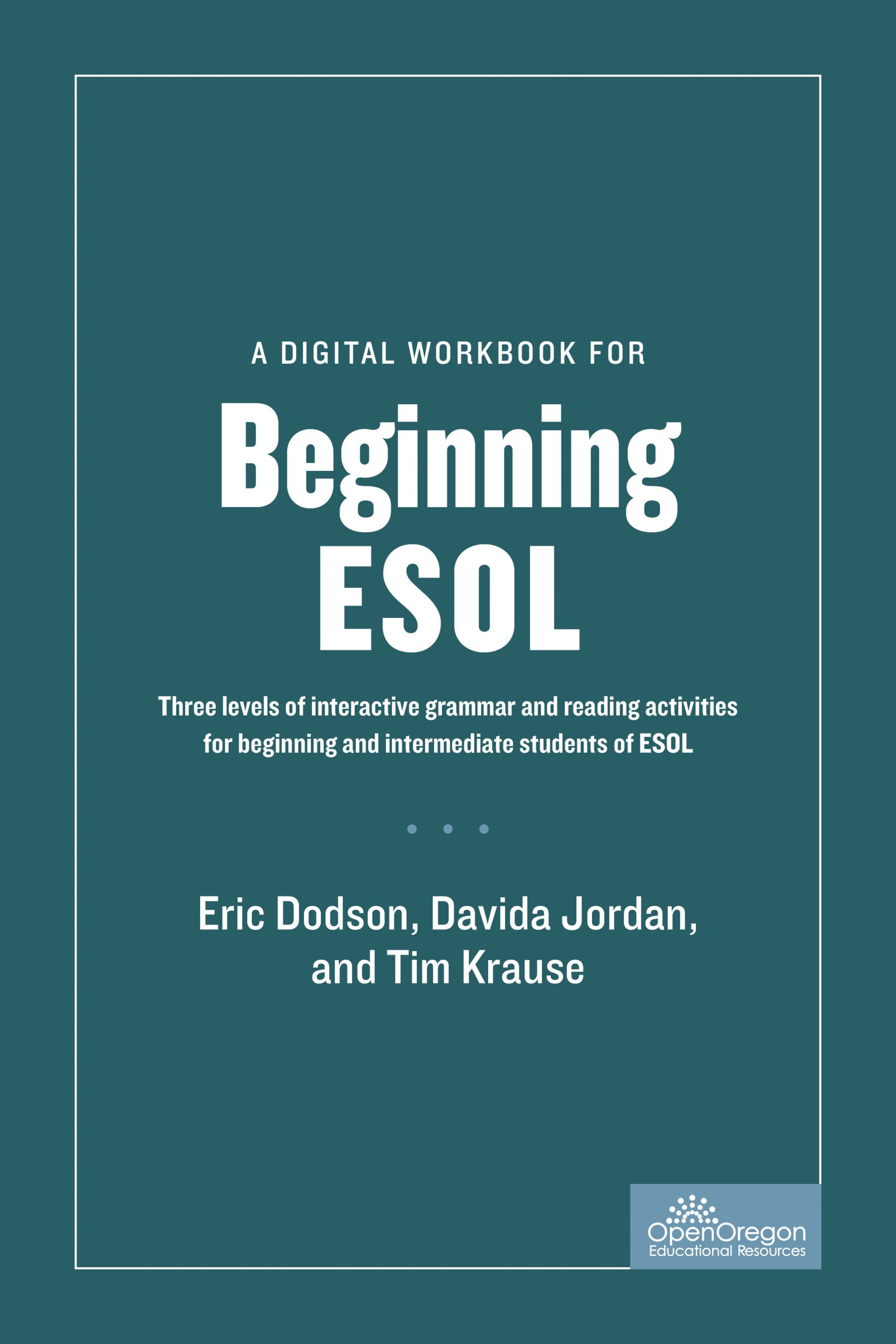A Digital Workbook for Beginning ESOL