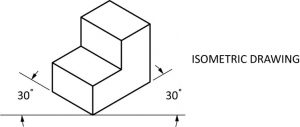Geometric solid drawn isometrically.